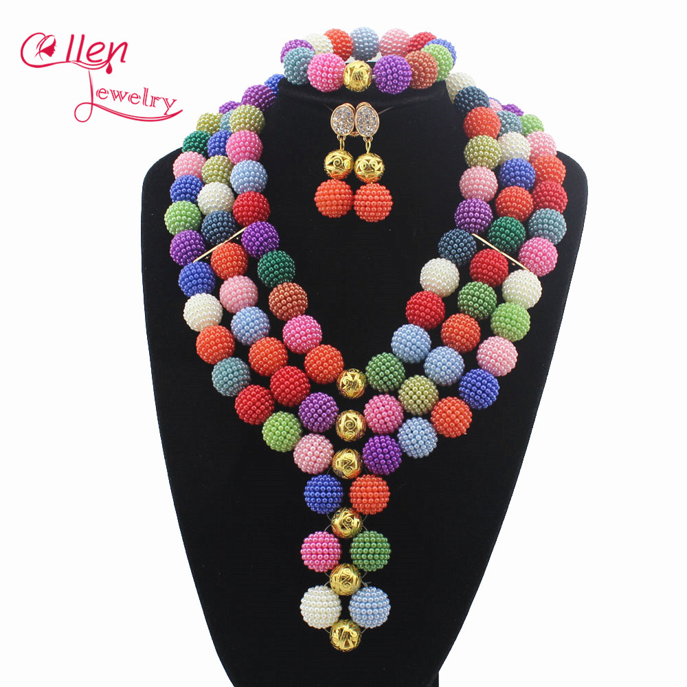 Nigerian Wedding African Pearl Ball Beads Jewelry Set Jewelry Set Free Shipping Womens Jewellery Set W12768 3lab крем для лица максимальный лифтинг для всех типов кожи m cream ultimate lift 60 мл