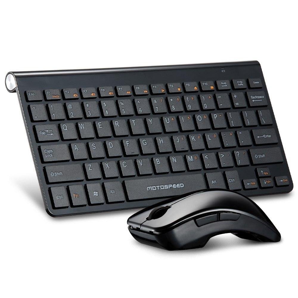 Ultra Slim 2.4 GHz DPI Wireless Keyboard & Optical Mouse Combo Set Kit with USB Nano Receiver Vista XP Mac OS PC Laptop black
