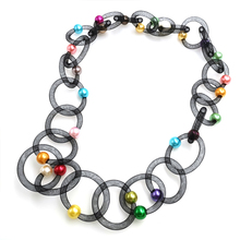 YD&YDBZ New Lace Pipe Pendant Necklace Women Multicolor Pearl Necklaces Long Choker Two Bohemia Jewelry Fashion Trendy Jewellery