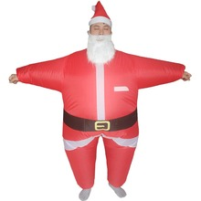 Adults Christmas Santa Claus Inflatable Costume Halloween Blow Up Costume for Women Men Xmas Birthday Cosplay Party Dress Outfit women girls superhero alien starfire teen titans go outfit cosplay halloween costume princess koriand r suit xmas birthday gift