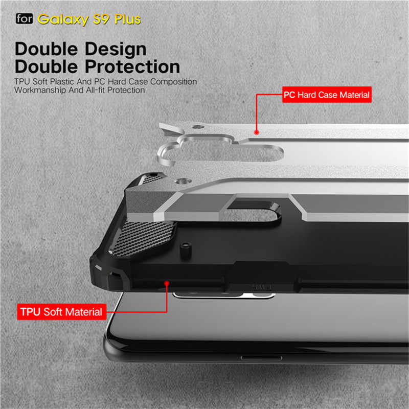 For Samsung Galaxy S5 S6 S7 edge S8 S9 Plus Note 4 5 8 9 Hybrid TPU Armor  Silicone Case A6 A8 J3 J4 J6 J7 J8 2018 Rugged Cover
