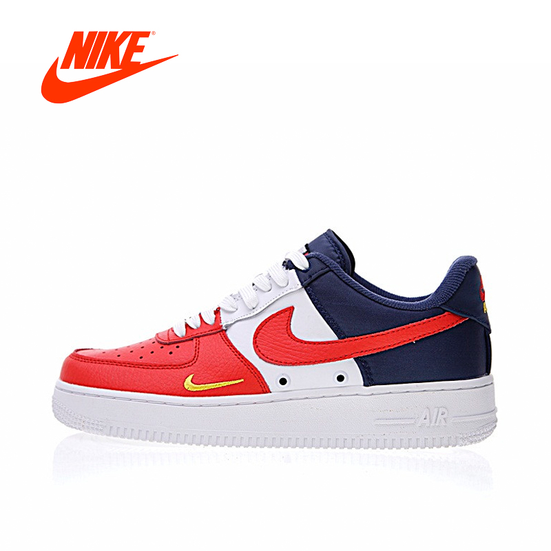 цена на Original New Arrival Authentic Nike Air Force 1 Low Mini Swoosh Men's Skateboarding Shoes Sneakers Good Quality 823511-601