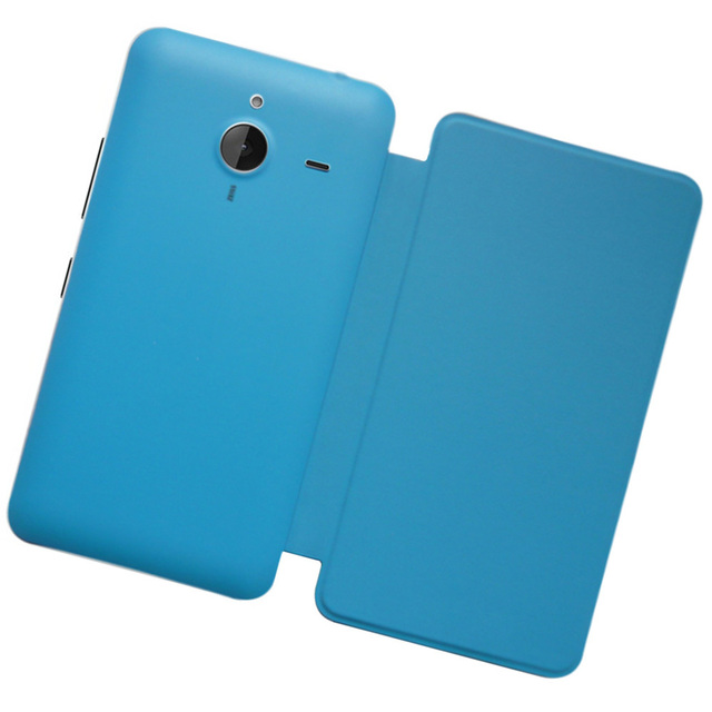Housing Back Cove Battery Cover Door With Leather Case Repair For Microsoft Lumia 640 XL Lumia640XL_OfficelLeatherCase_Blue