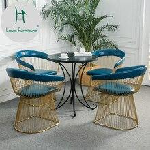 Луи моды столы для кафе скандинавские переговоров стол металлический Досуг кофе железа искусство современный