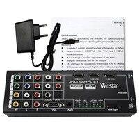 Wiistar Мультифункциональный HDMI конвертер переключатель 8 вход к HDMI + коаксиальный + spdif выход Поддержка 3D и объемный звук для 1080 P HDTV
