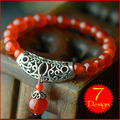 women ethnic bracelet,new vintage tibetan silver bracelet,fashion chinese jewelry charm agate beads bracelt red