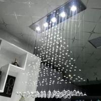Crystal Combination 100 100 20cm New Modern Pyramid Design Square K9 Crystal Gu10 Led Pendant Lamp