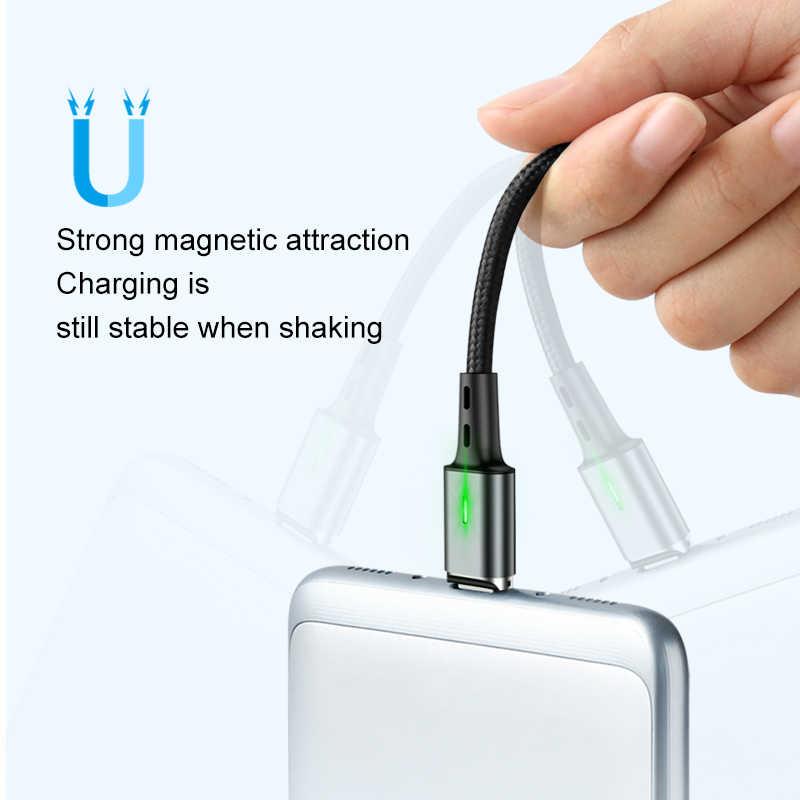 Elough 2M Cáp Từ Cáp USB Type C Dành Cho iPhone XR Samsung A50 Micro USB C Từ Cáp Sạc USB Tipo C Cho iPhone 7