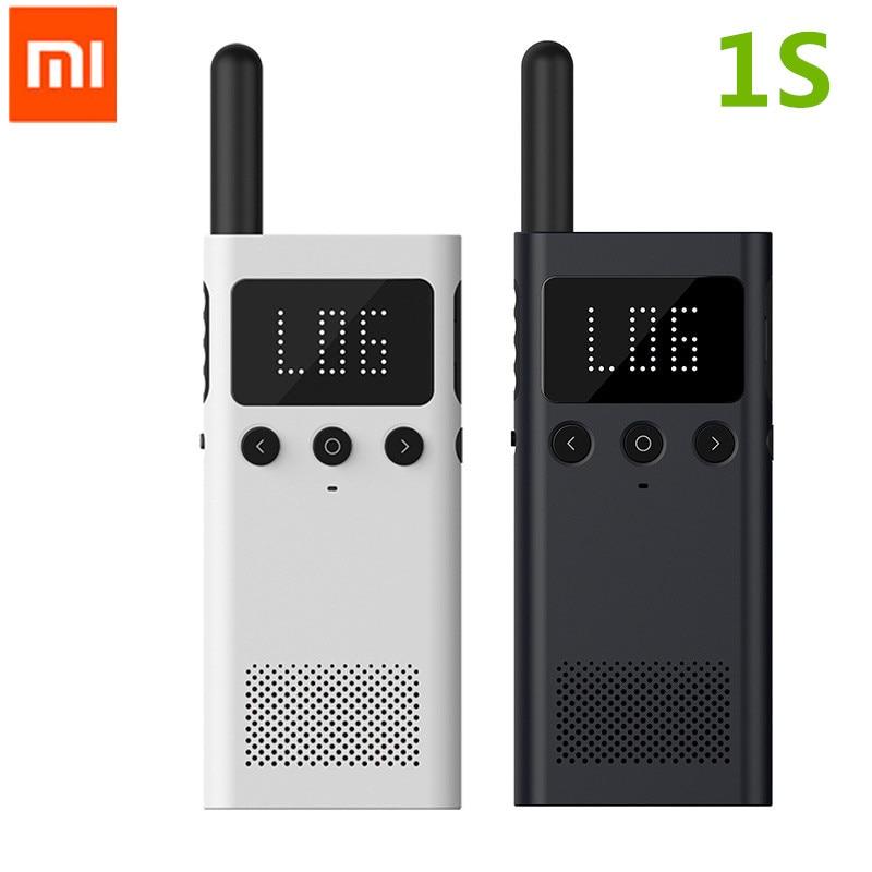 Original Xiaomi Mijia Smart Walkie Talkie smart con altavoz de Radio FM en espera la ubicación de la aplicación del teléfono inteligente comparte la conversación rápida del equipo nuevo