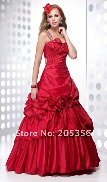 Free Shipping 100% Tailor-made ball gown one shoulder backlessruched Beading Sexy Quinceanera Dresses NC144