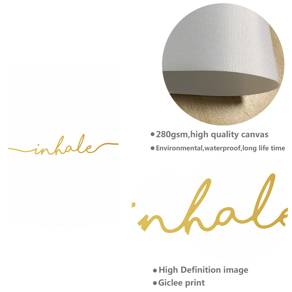 NICOLESHENTING Inhale Exhale Quotes Poster Prints Minimalist Wall Art  Canvas Painting Decorative Picture Nordic Decoration In Painting U0026  Calligraphy From ...