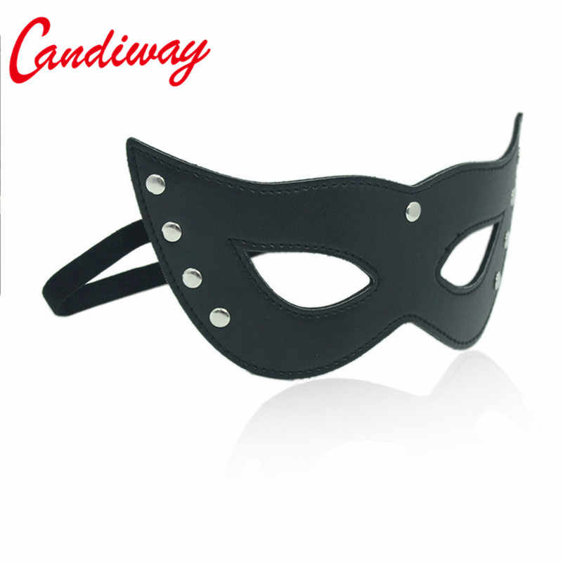 Sexy PU leather Eyewear Girls Lady Women Half Face Eye Mask for Night Dance Ball party Adult Cosplay role game
