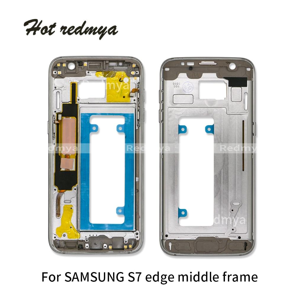 LCD Moyen Retour Châssis cadre Plate Lunette Retour Logement Pour Samsung Galaxy S7 bord G935 G935F Moyen Cadre Replacemenrt Pièces