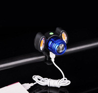 2017 Bicycle Lamp Front Lamp USB Charger Bicycle Accessory Bike Equipment Mountain Lamp Strong Light Flashlight
