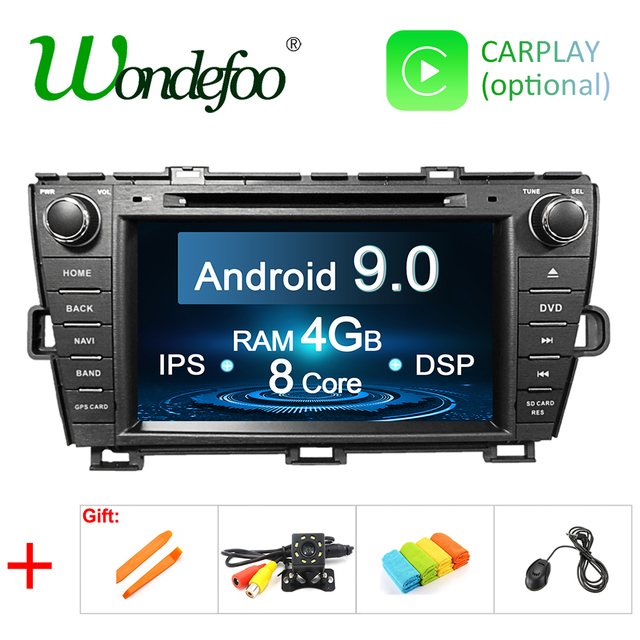 DSP 4G Android 9.0 IPS screen CAR radio GPS For Toyota Prius 2009-2013 dvd player navigation stereo multimedia unit