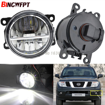 2x Front Bumper LED Fog Lights High Brightness Driving fog lamps For NISSAN Navara D40 Note E11 Pathfinder R51 Pixo UA0