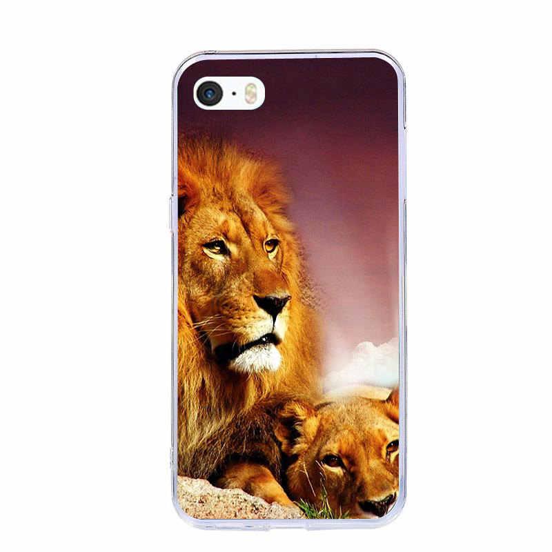 J & R милый мультфильм животных телефон чехол для iPhone 5 5S 5C SE 6 6 S 7 8 Plus 4 4s Мягкий ТПУ чехол для iPhone X XR XS MAX чехлы
