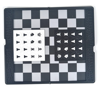Hot Sales Mini Pocket Chess Set Board Magnetic Portable Checkers Set Plane Easy To Carry Family