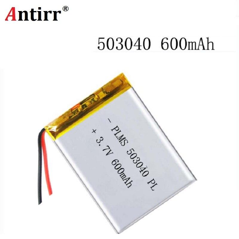 Darmowa wysyłka polimerowa bateria 600 mah 3.7 V 503040 inteligentne domowe głośniki MP3 akumulator litowo-jonowy do dvr GPS mp3 mp4 głośnik do telefonu komórkowego