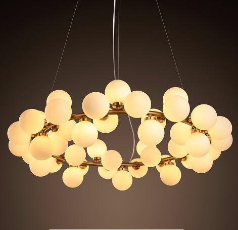 Vintage Retro Round Bubble LED pendant Lamp Lighting Fixture Modern Lustre Pendant lights for dining room glass pendant