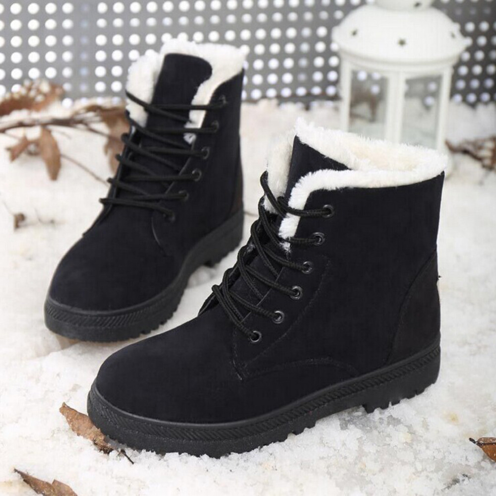 snow boots winter ankle boots women shoes plus size shoes 2016