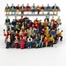 P8711 60 шт. хо масштаб 1: 87 все сидящие люди сидящие фигуры пейзаж пассажиры Новые