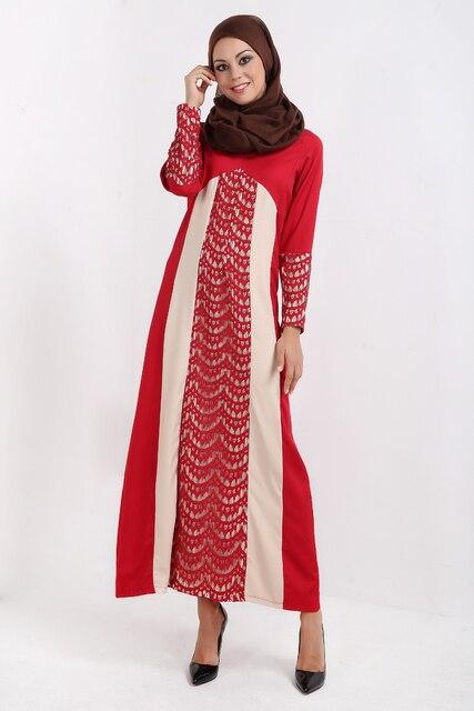 Islamische kleidung Frauen Maxi Lange Dubai Kleid marokkanischen ...