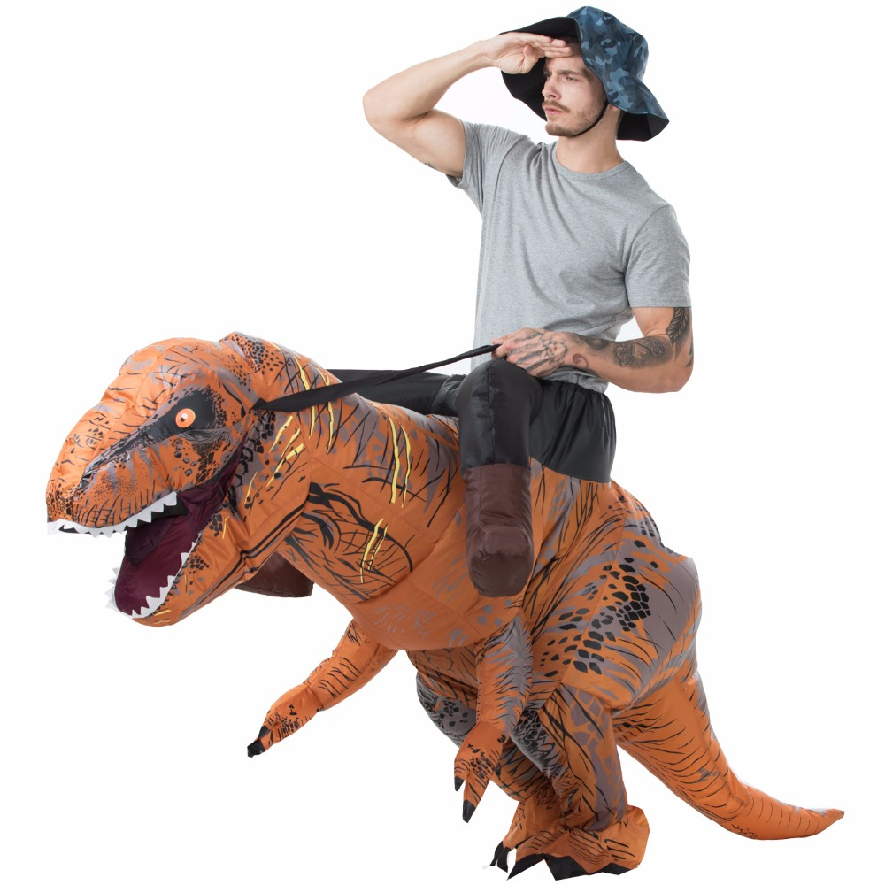 Pourim T-REX Costume gonflable dinosaure costume Blowup Dinosaure Carnaval Halloween Gonflable costume adulte taille