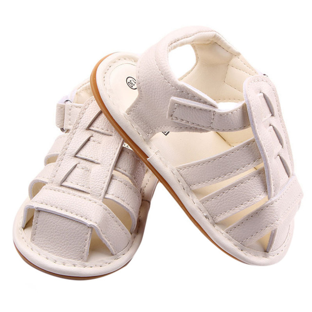 58801f001c424 Infant Summer Sandals Male Baby PU Light Leather Cross Flat Rubber Shoes  For 0-1 Year Old Newborn Baby Boys Size 11-13cm