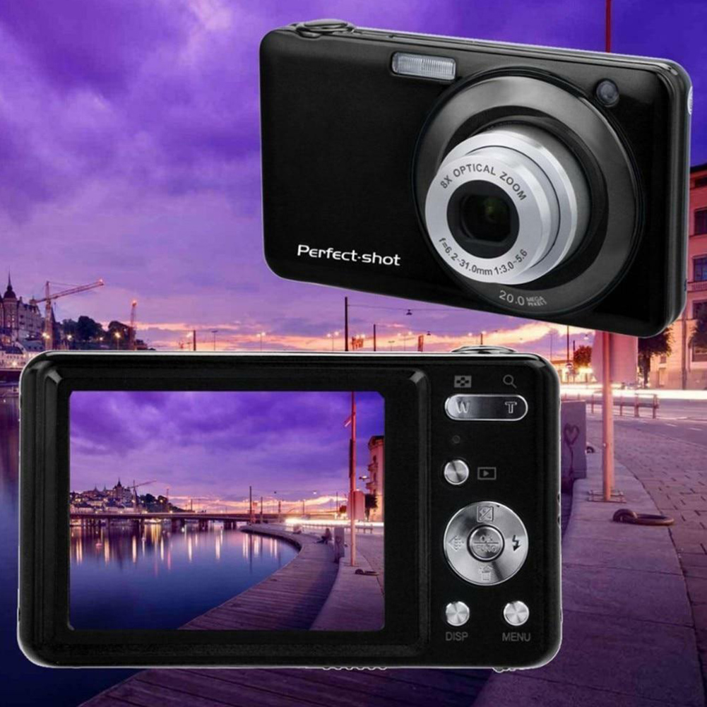 24MP Face Detection Photo High Definition Anti shake Compact Portable Video Record Optical Zoom Digital Camera