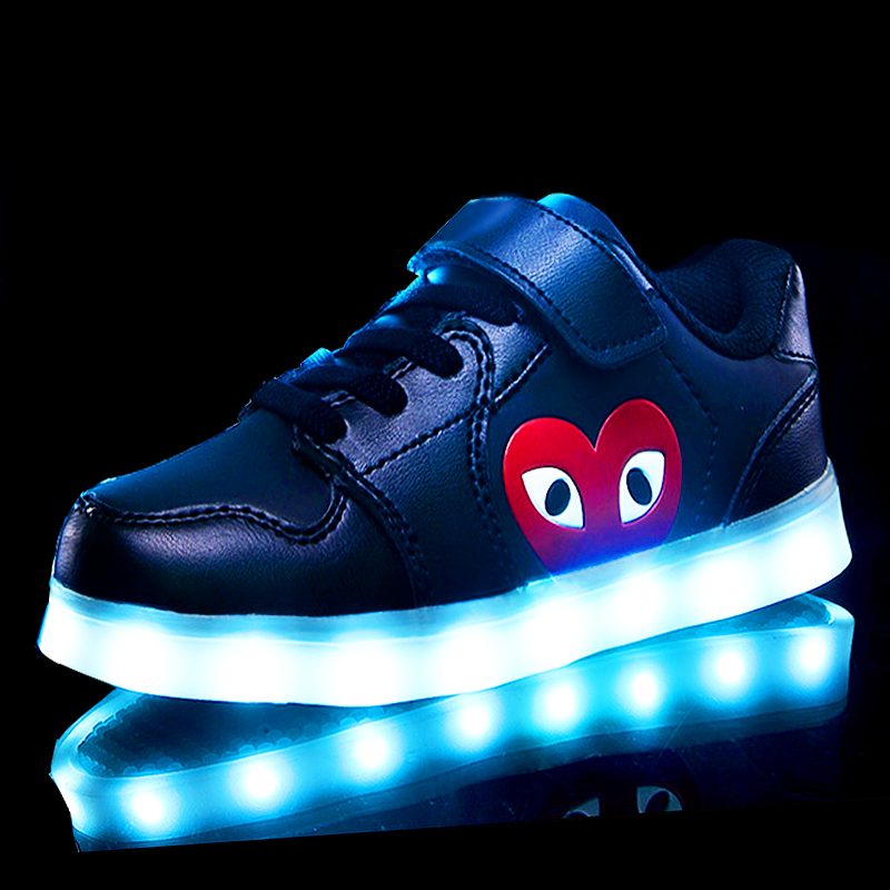 2018 new Glowing Children casual Shoes with USB rechargeable Kids Led Light up Shoes Luminous Sneakers for Boys Girls Sneaker