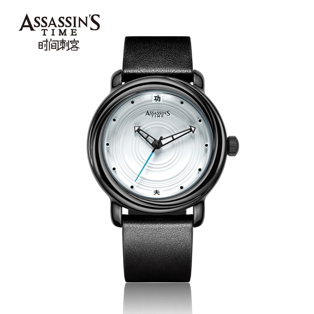 Assassin's Time Mens Luxury Vattentät Quartz Watch Man Läder Sport - Herrklockor - Foto 6