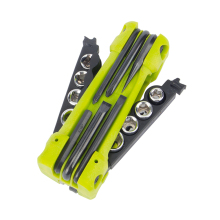 JAKEMY JM-PJ1004 Outdoor Tools Combination With Screwdriver Socket Rod Pry Bar Opener Folding Camping Equipment Survival Knife