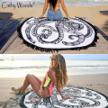 Microfiber Round Beach Towel Indian Mandala Towel Round Beach Throw Tapestry Hippy Gypsy Cotton Beach Mandala Blanket Towels