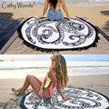 Toalla de microfibra Toalla de Playa Todo el Indio Mandala Ronda Hippy Gypsy Beach Algodón Mandala Tapestry Throw Manta Toallas de Playa