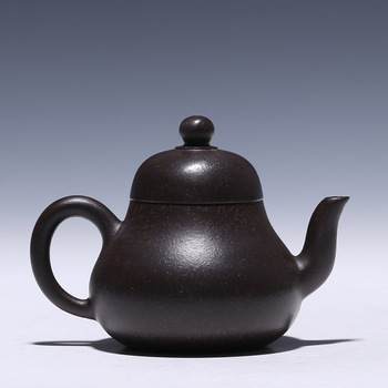 Yixing Purple Sand Teapot Famous Country Assistant Lu Weiping Hand-made Siting Purple Sand Teapot Travel Tea Set Gift