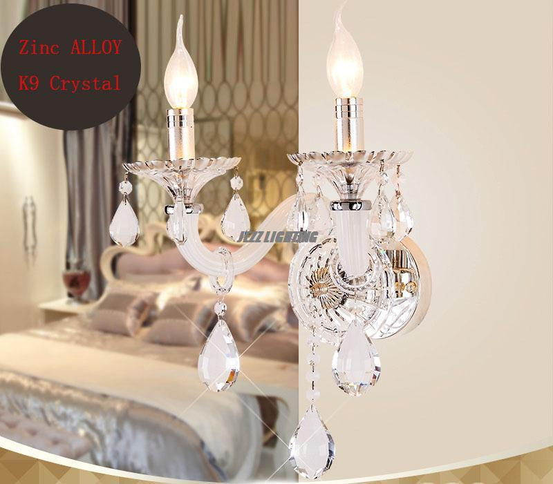 Wall Sconce Lamp Swing Lamps Arm Llight Chandelier Lights Hallway Stairs White Candle K9 Crystal 2 In Led Indoor From