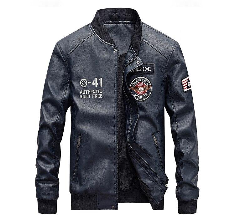 HTB1qvsrG21TBuNjy0Fjq6yjyXXaQ AFS JEEP Embroidery Baseball Jackets Men Letter Stand Collar Pu Leather Coats Plus Size 4XL Fleece Pilot Leather Jacket hombre