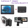 Accesorios para gopro hero 4 3 + 3 disparador automático adaptador de conector caja + pantalla lcd bacpac para gopro accesorios de la cámara
