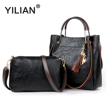 YILIAN New Composite Bag for Women Luxury Handbags 5 Colors Black Leather Single Shoulder Bag Office Ladies Bag Casual Bags 705