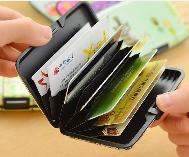 12 pièces étanche ABS + aluminium rfid bloquant les portefeuille porte-cartes de crédit protègent le portefeuille de porte-carte de crédit