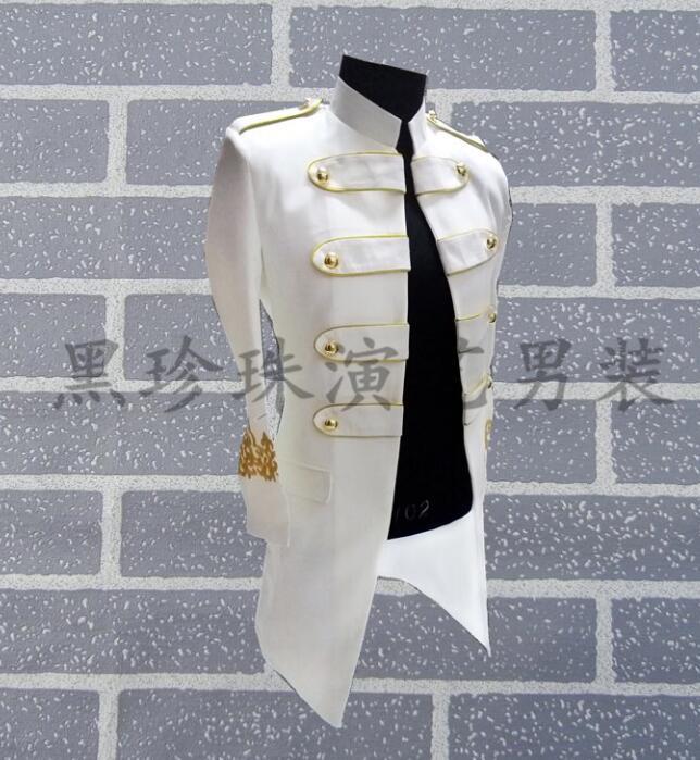 Hommes Les Noir Rock Scène Vêtements Chanteurs Costumes Noir Terno De Longue Pour blanc Masculino Homme Danse Blazer Blanc Style Robe Conceptions Unvxx8qH5w
