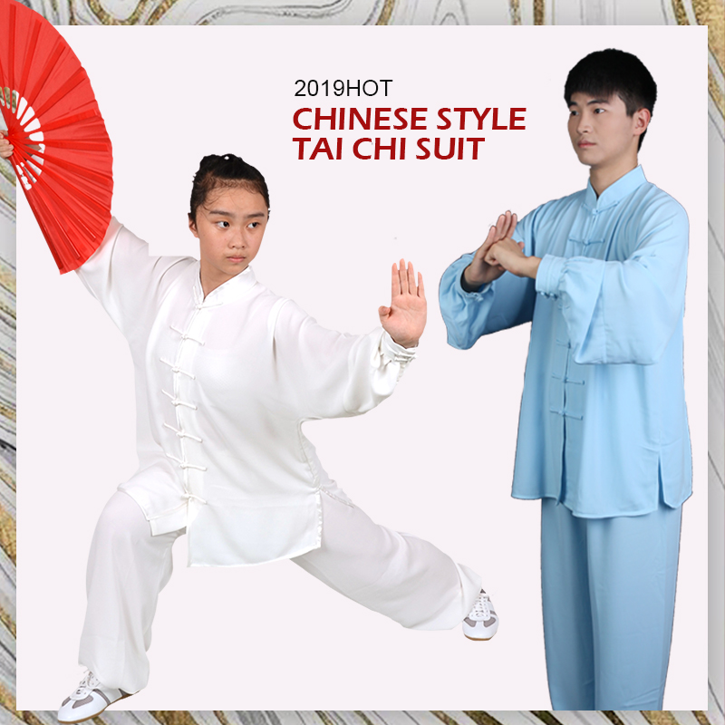 Yiwutang  Clothing Taichi Chinese Suit-unifroms Traditional Wushu 5-color Exercise Long-sleeved For Men Or Women And Kung Fu