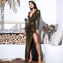découpé or robe matériau