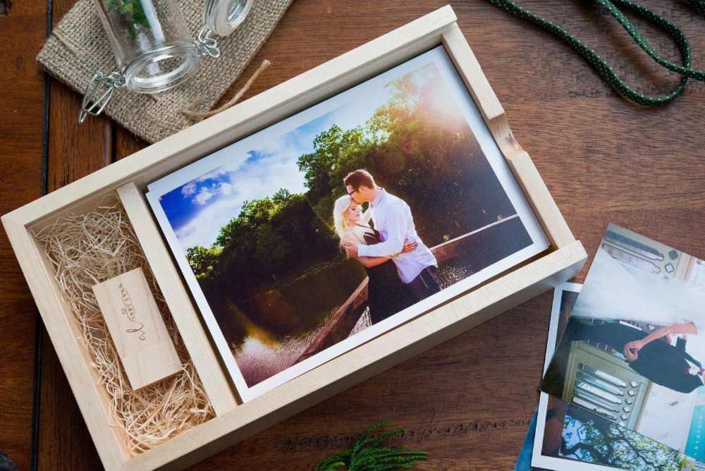 """Новая деревянная коробка для фотоальбома (принты 5*7 """") USB 3,0 флеш-накопитель DIY тисненый Свадебные памяти для фотосъемки в студии"""