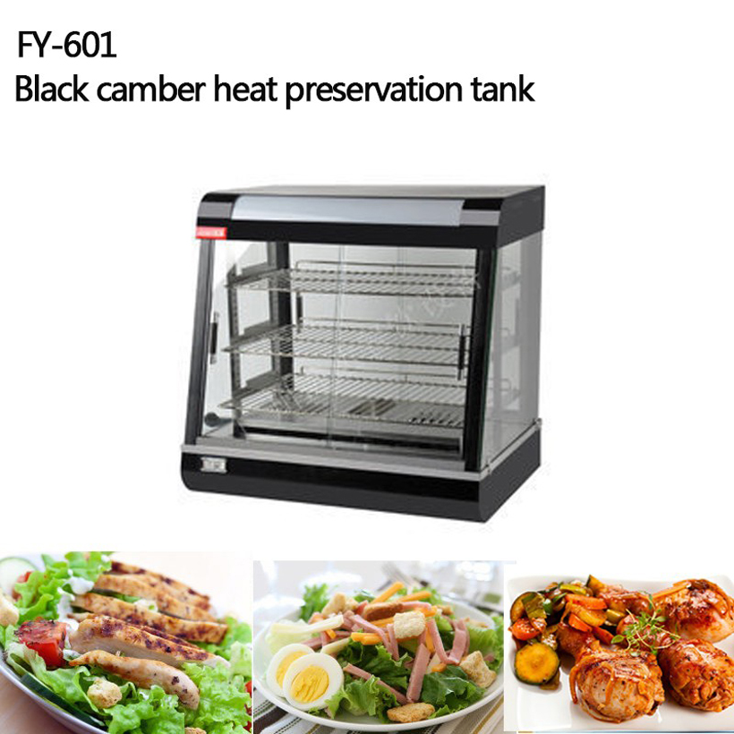 FY-601 Commercial Stainless Steel Electric Food Warmer Three layers Keep Food Warm Heated Display Cabinet Warming Showcase churro display warmer deluxe stainless steel churro showcase machine with heat food warmer and oil filter tray