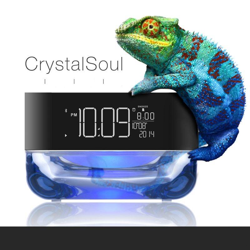 2016 NEW Multifunction LED music alarm clock With Bluetooth small audio radio child bedroom bedside Luminous  clock
