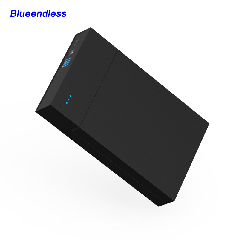 external hard drive 1TB/2TB/4TB portable high speed USB 3.0 case sata hdd enclosure support 3.5 hdd box tool free Blueendless sata usb 3 0 blue orange hdd case with 250g hard disk heating release rubber case 2 5 fast reading speed case