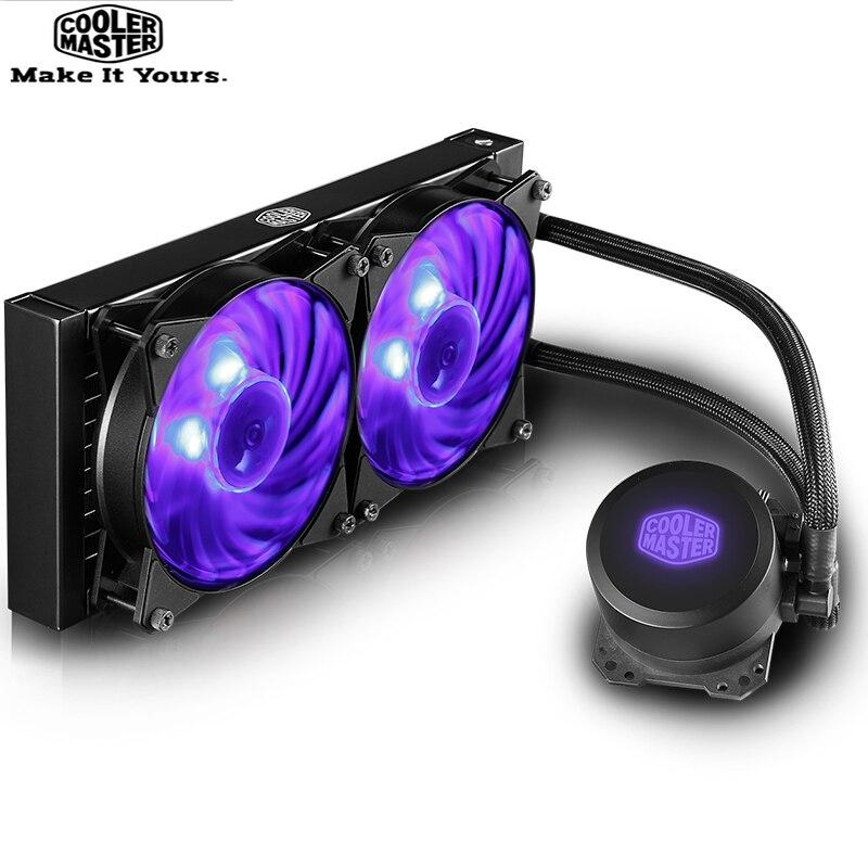 Refroidisseur maître ML240L CPU refroidisseur de liquide radiateur 120mm RGB ventilateur silencieux pour Intel 1155 1156 2011 1366 AMD AM4 AM3 CPU refroidissement par eau