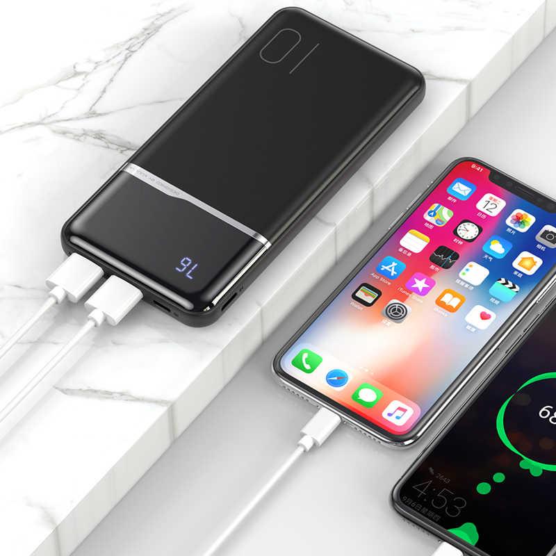 KUULAA power Bank 10000 мАч портативное зарядное устройство 10000 мАч USB PoverBank Внешнее зарядное устройство для Xiaomi Mi 9 8 iPhone